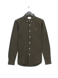 Farah Brewer Slim Long Sleeve Shirt Green