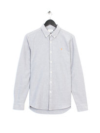 Farah Brewer Slim Long Sleeve Shirt Grey