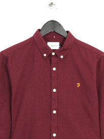 Farah Brewer Slim Long Sleeve Shirt Red