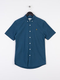 Farah Brewer Slim Short Sleeve Shirt BD Blue