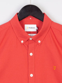 Farah Brewer Slim Short Sleeve Shirt BD Red