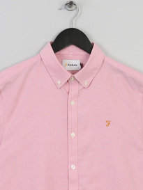 Farah Brewer Slim Ss Shirt 665 Pink
