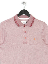 Farah Byrne Short Sleeve Polo Red