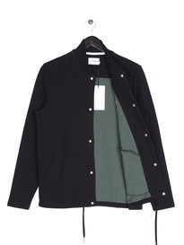 Farah Charecroft Button Down Bomber Black