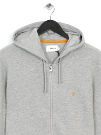 Farah Dale Loopback Hooded Sweat Grey