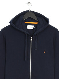 Farah Dale Loopback Hooded Sweat Navy
