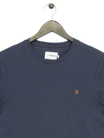 Farah Denny Slim Solid T- Shirt Navy