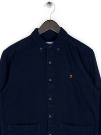 Farah Edward Slim BD Overshirt Navy