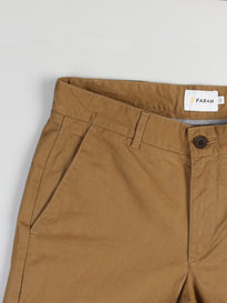 Farah Elm Chino Twill Trousers 210 Brown