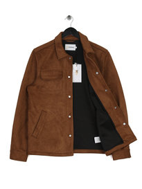 Farah Finley Faux Suede Jacket Brown