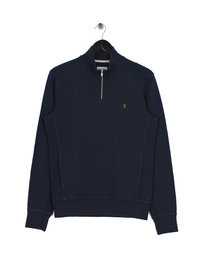 Farah Frans 1/4 Zip Funnel Navy