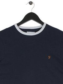 Farah Groves Ringer Short Sleeves T-Shirt Navy