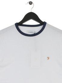 Farah Groves Ringer Short Sleeves T-Shirt White