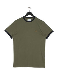 Farah Groves Ringer Short Sleeve T-Shirt Green