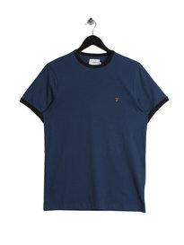 Farah Groves Ringer T-Shirt Blue