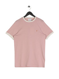 Farah Groves Ringer T-Shirt Pink