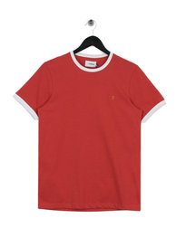 Farah Groves Ringer T-Shirt Red