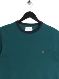 Farah Groves Ringer T-Shirt Teal