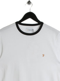 Farah Groves Ringer T-Shirt White