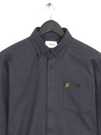 Farah Hambleton Cas Long Sleeve Shirt Grey
