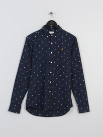 Farah Heasman Slim Long Sleeve Shirt 476 Navy