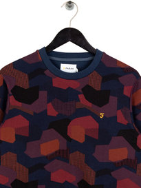 Farah Helmond Print Sweat Navy