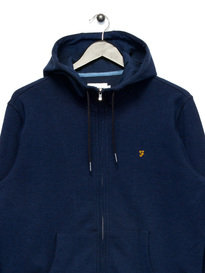 Farah Hicks Hoody Navy