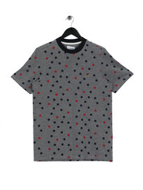 Farah Hinde Polka Crew Neck Short Sleeve T-Shirt Navy