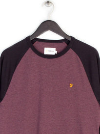 Farah Holmwood Long Sleeve T-Shirt Red