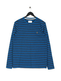 Farah Lennox Long Sleeve Stripe T-Shirt Blue