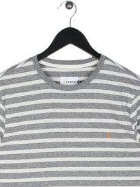 Farah Lennox Long Sleeve Stripe T-Shirt Grey