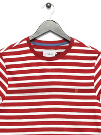 Farah Lennox Short Sleeve Stripe T-shirt Red