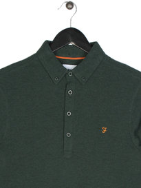 Farah Merriweather Long Sleeve Polo Green