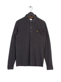 Farah Merriweather Long Sleeve Polo Grey