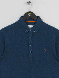 Farah Merriweather Long Sleeve Polo 987 Blue