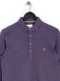 FARAH MERRIWEATHER LS POLO PURPLE
