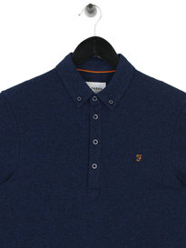 Farah Merriweather Short Sleeve Polo Blue