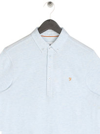 Farah Merriweather Short Sleeve Polo Lake Blue