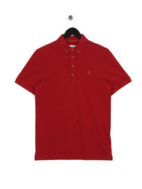 Farah Merriweather Short Sleeve Polo Red