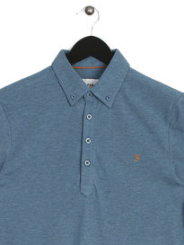 Farah Merriweather SS Polo Shirt Blue