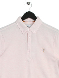 Farah Merriweather SS Polo Shirt Pink