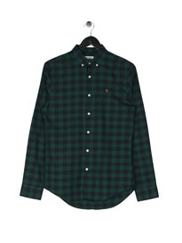Farah Murial Slim Long Sleeve BD Check Shirt Green