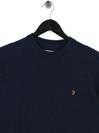 Farah Orbital Crew Sweat Blue