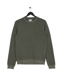 Farah Pickwell Garment Dyed Sweat Green