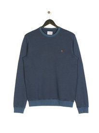 Farah Pickwell Garment Dyed Sweat Navy