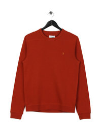 Farah Pickwell Garment Washed Sweat Orange Rust