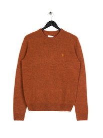Farah Rosecroft Crewneck Knit Rust