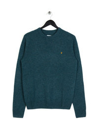 Farah Rosecroft Crewneck Knit Teal