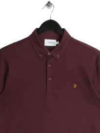 Farah Stapleton Long Sleeved Polo Red