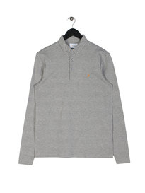Farah Stapleton Long Sleeve Polo Grey